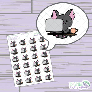 Working Bats ~ Hand Drawn Animal Icons ~ Petite Collection ~ Planner Stickers