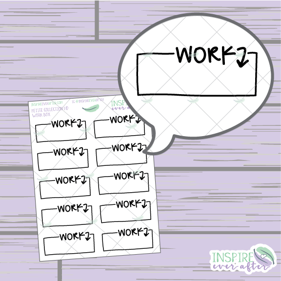 Work Boxes ~ Hand Drawn Work Icon ~ Petite Collection ~ Planner Stickers