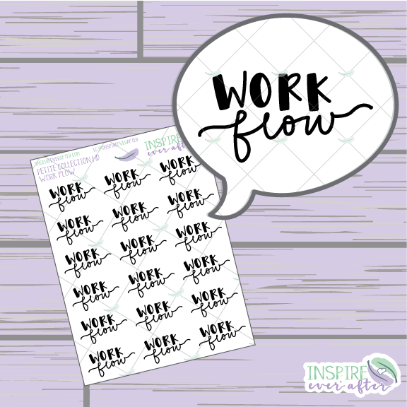 Work Flow ~ Hand Lettered Petite Collection ~ Planner Stickers