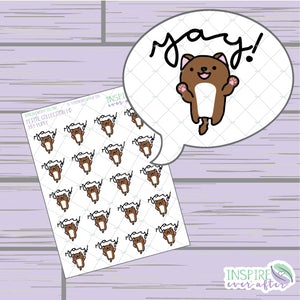 Yay! Puppy ~ Hand Drawn Petite Collection ~ Planner Stickers