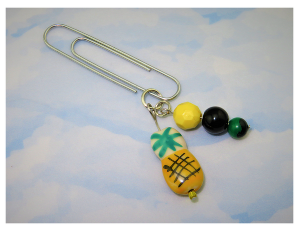 Pineapple of my Eye (Yellow) Dangle Clip ~ Inspireology Charms ~ Handmade Planner Accessories