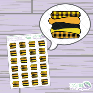 Magical Yellow House Blanket Stack ~ Hand Drawn Petite Collection ~ Planner Stickers