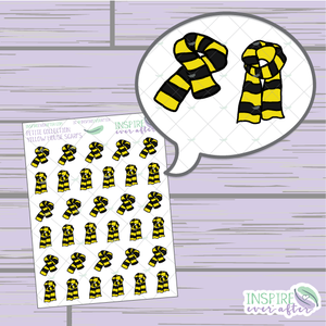 Magical Yellow House Scarf ~ Hand Drawn Petite Collection