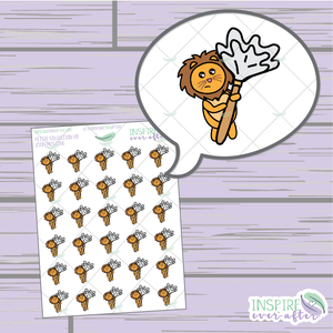 Zion the Lion Dusting ~ Hand Drawn Petite Collection ~ Planner Stickers