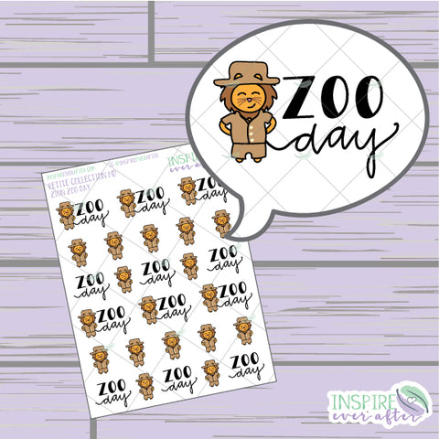 Zion the Lion Zoo Day ~ Hand Drawn Petite Collection ~ Planner Stickers