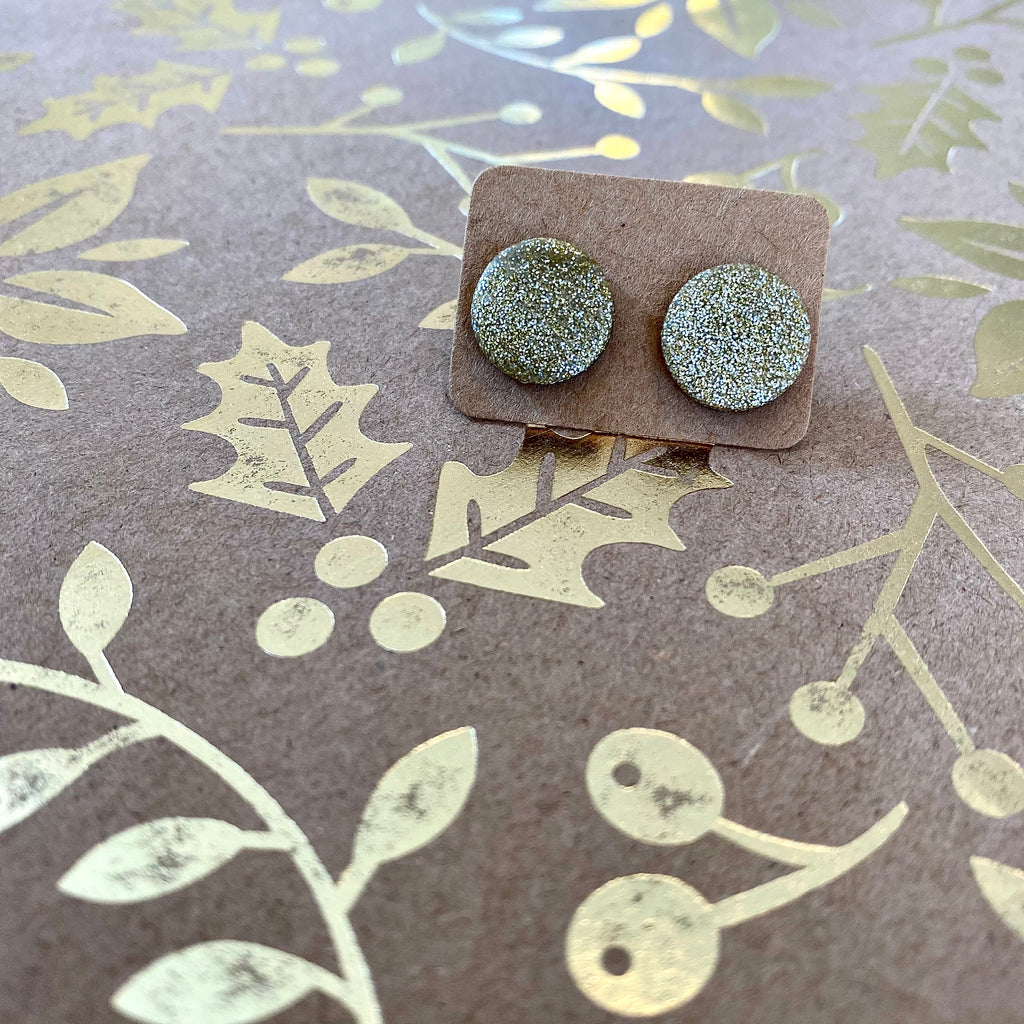 Pure Sparkle - Gold Earrings