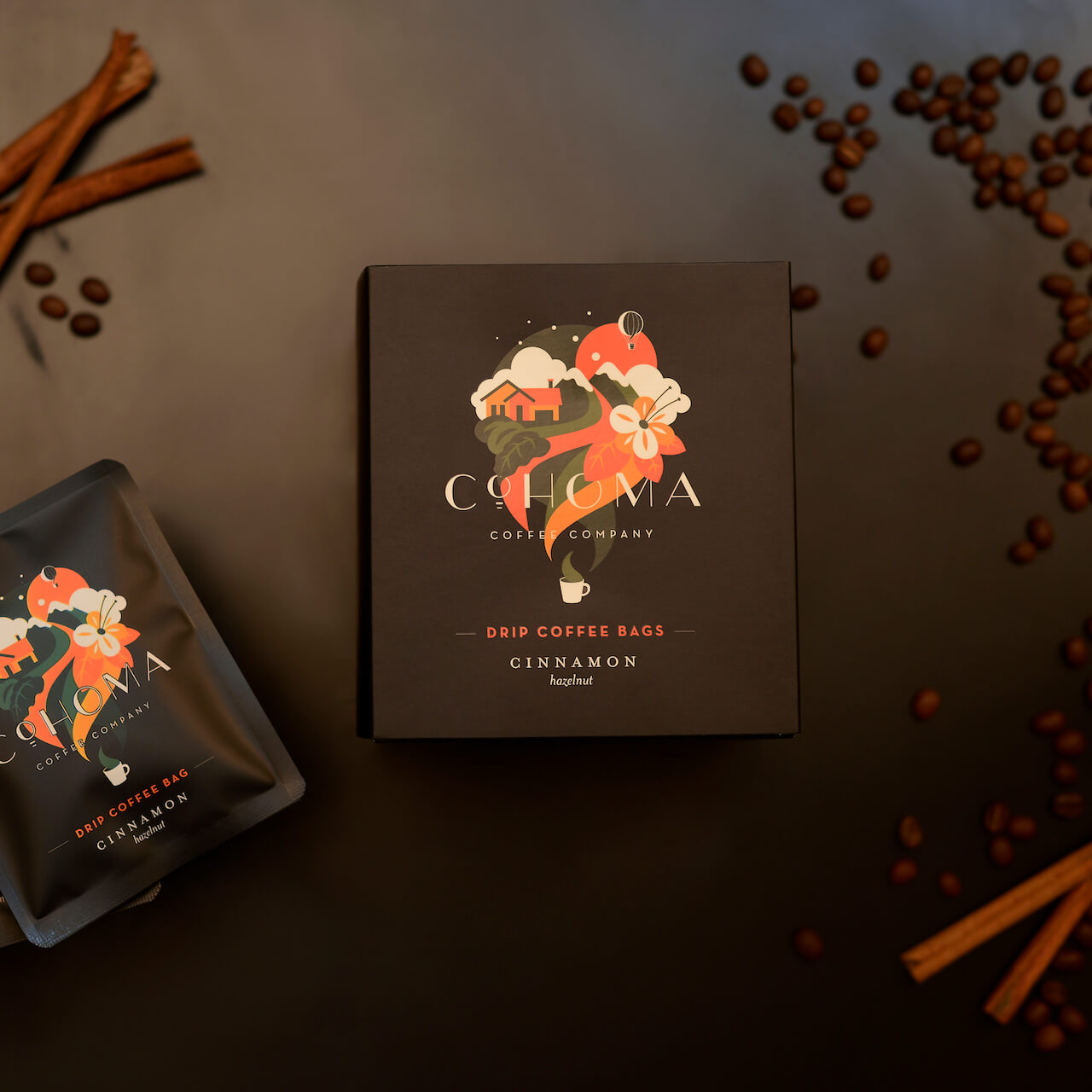 Coffee Bags: Cinnamon Hazelnut - Cohoma Coffee