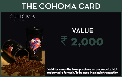 CravingCohoma Gift Card: Rs. 2000