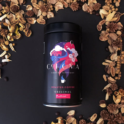 "Roasted Coffee Original: <span class=""product-title-roasted-coffee-bold"">Bold</span> (Canister) - Cohoma Coffee"
