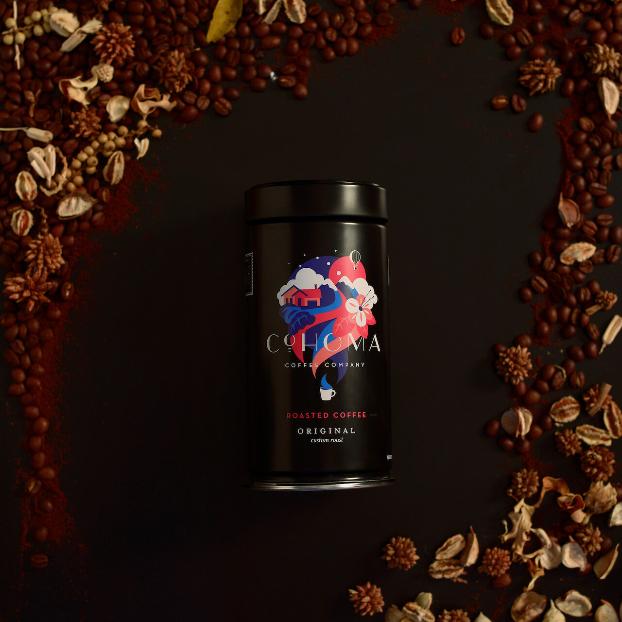 Roasted Coffee Original: Custom Roast (Canister) - Cohoma Coffee