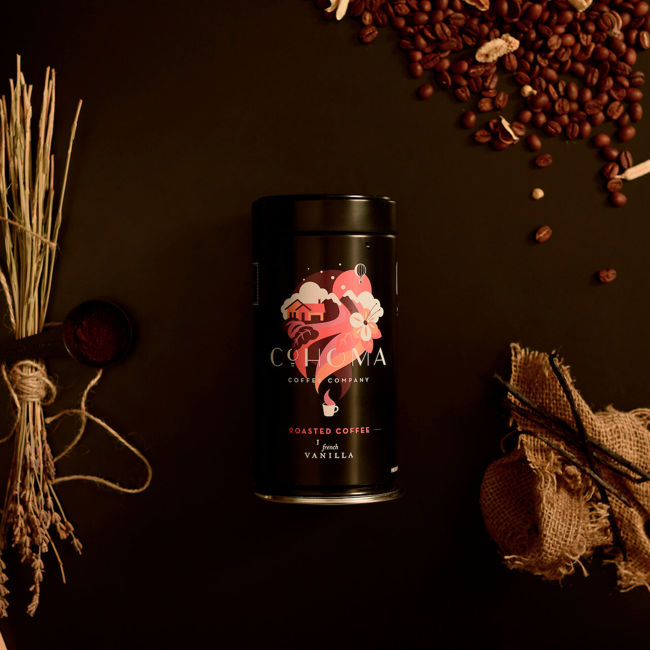 Roasted Coffee: French Vanilla (Canister) - Cohoma Coffee