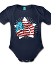 Organic Independence Day Onesie - dark navy