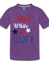 Red , White , & CUTE Kids Graphic Tee - purple