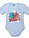 Organic Independence Day Onesie - sky