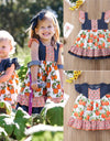 Girls Boho Ruffle Pumpkin Dress