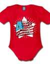 Organic Independence Day Onesie - red