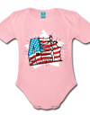 Organic Independence Day Onesie - light pink