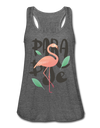 Paradise Flamingo Flowy Tank Top - deep heather