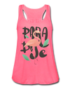 Paradise Flamingo Flowy Tank Top - neon pink