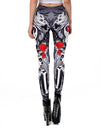 Women's Rose Sugar Skull Leggings