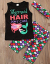Mermaid Hair Don't Care  Girls Outfit + Heaeband