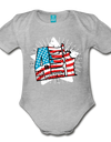 Organic Independence Day Onesie - heather gray