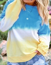Gradient Rainbow Printed Long Sleeve Top