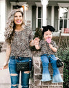 Mother and Daughter Leopard Print Matching Tops