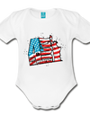 Organic Independence Day Onesie - white