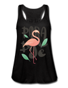 Paradise Flamingo Flowy Tank Top - black