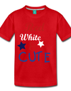 Red , White , & CUTE Kids Graphic Tee - red