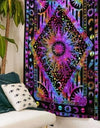 Psychedelic Sun Moon Planet Wall Hanging Tapestry