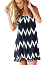 Geometric Tassel Dress