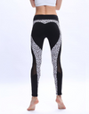 Leopard Mesh Breathable Yoga Leggings