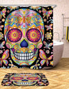 Sugar Skull Waterproof Polyester Curtain