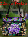 Mandala Flower Embroidered Tote