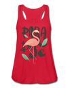 Paradise Flamingo Flowy Tank Top - red