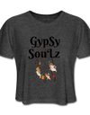 GypSy SouLz Cropped Tee - deep heather