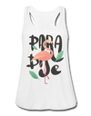 Paradise Flamingo Flowy Tank Top - white