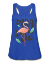 Paradise Flamingo Flowy Tank Top - royal blue