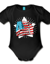 Organic Independence Day Onesie - black