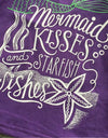 Girls Mermaid Kisses and Starfish Wishes Outfit with Matching Headband