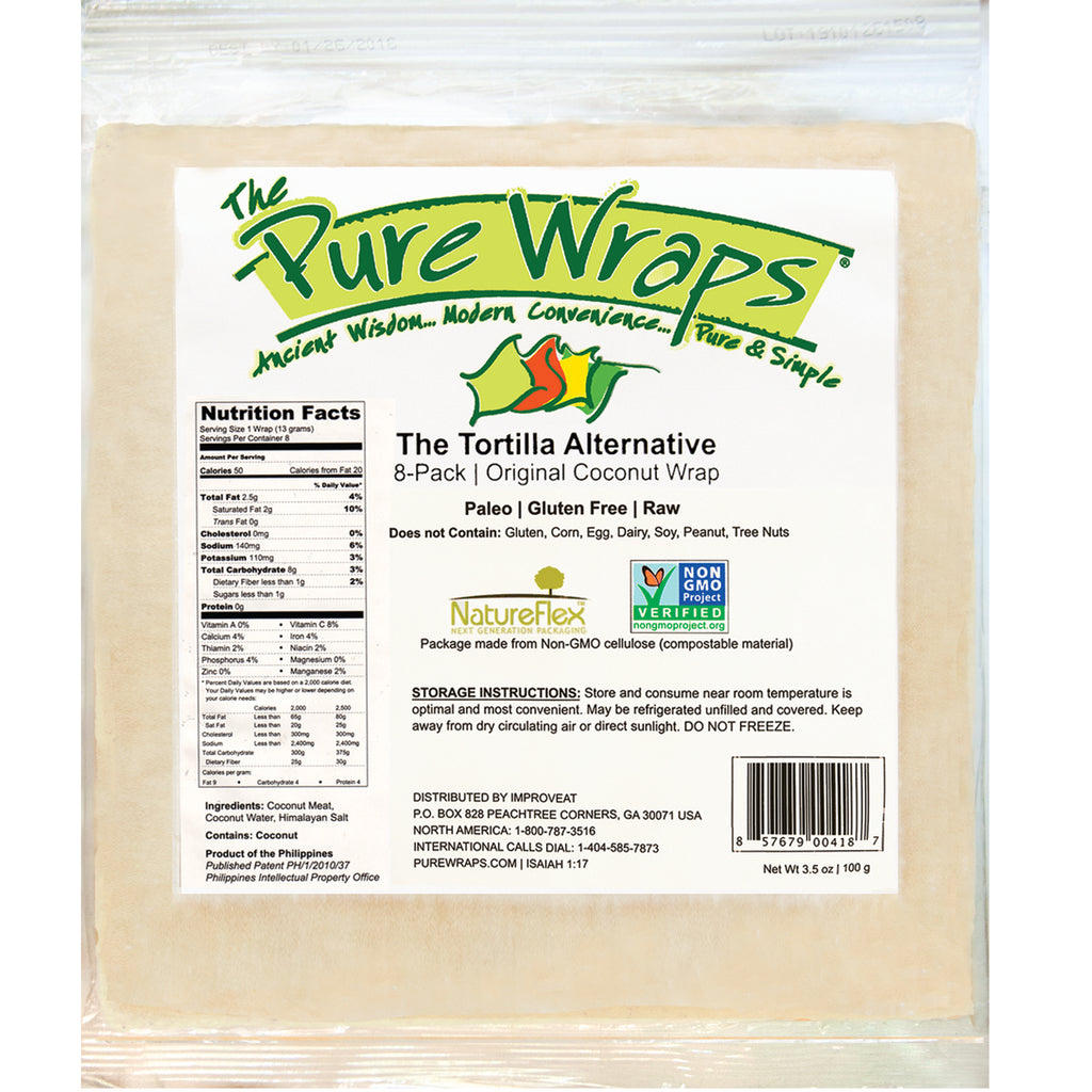 Original Coconut Wraps [8-Pack]