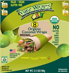 ORGANIC Original Coconut Wraps [8-count] MADE IN THE USA