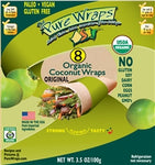 ORGANIC Original MADE IN USA [8-count] Coconut Wraps