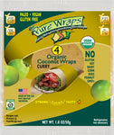 ORGANIC Curry MADE IN USA [4-count] Coconut Wraps