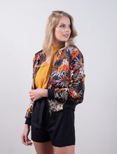 BLACK FLORAL | BOMBER JACKET