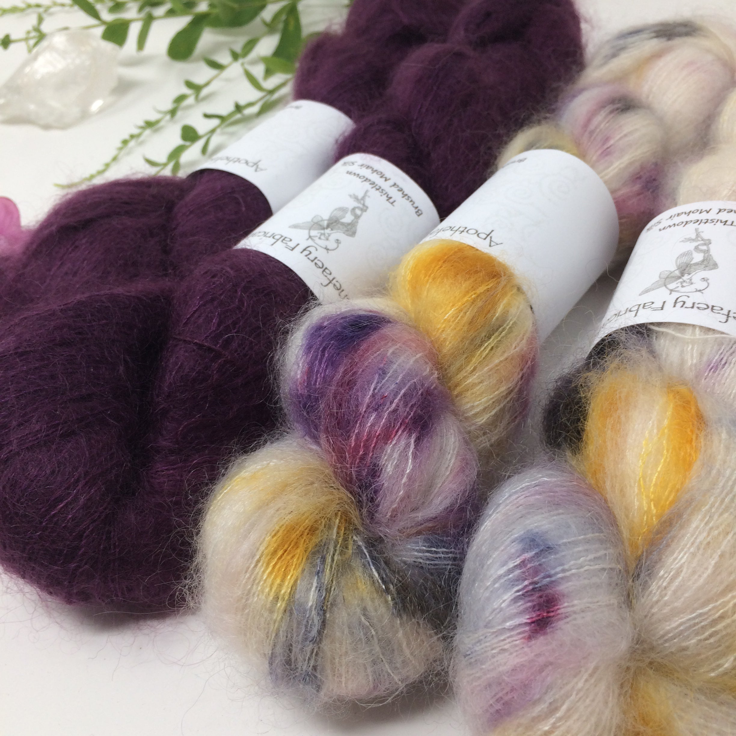 Pele - thistledown - brushed mohair and silk laceweight