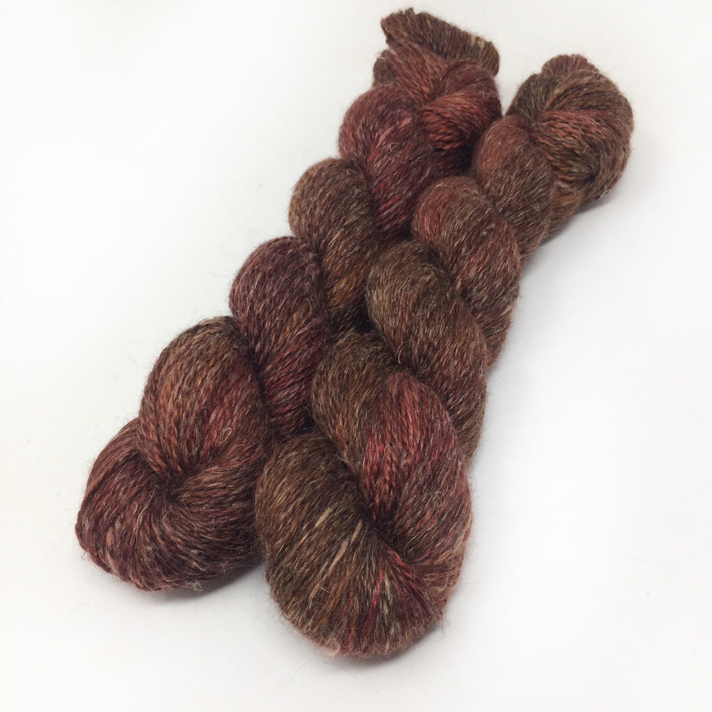 Chocolate Dipped - Alpaca Linen Silk DK weight 2 Ply