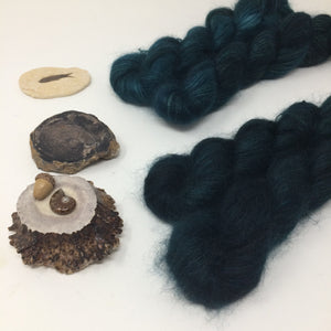 Deep Teal - thistledown - brushed mohair and silk laceweight